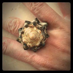 Gorgeous goddess crab shell ring